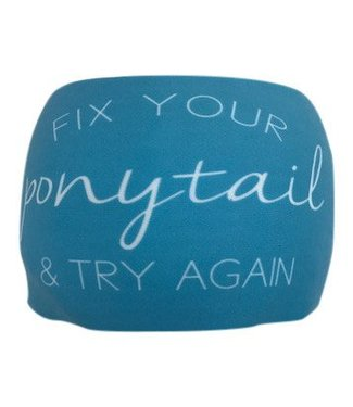 "BONDIBAND Haarband Blue ""Fix your ponytail and try again"""