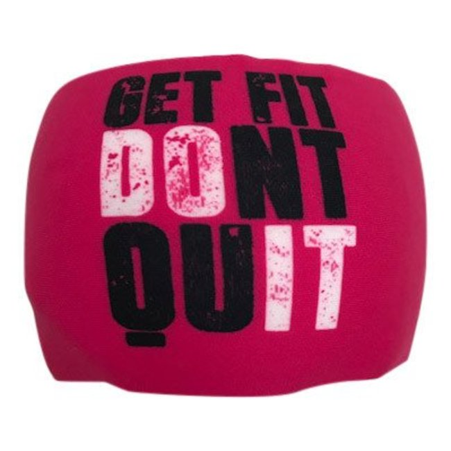 """BONDIBAND Haarband Pink """"Get fit don't quit"""""""