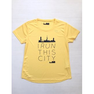 I RUN THIS CITY I Run This City Rotterdam hardloopshirt geel