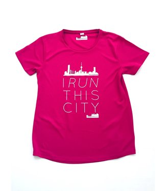 I RUN THIS CITY I Run This City Rotterdam hardloopshirt roze