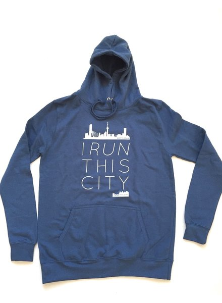 I RUN THIS CITY I Run This City Rotterdam hoodie blauw