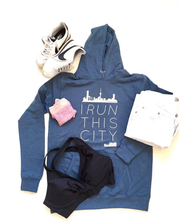 I RUN THIS CITY I Run This City Rotterdam hoodie blauw
