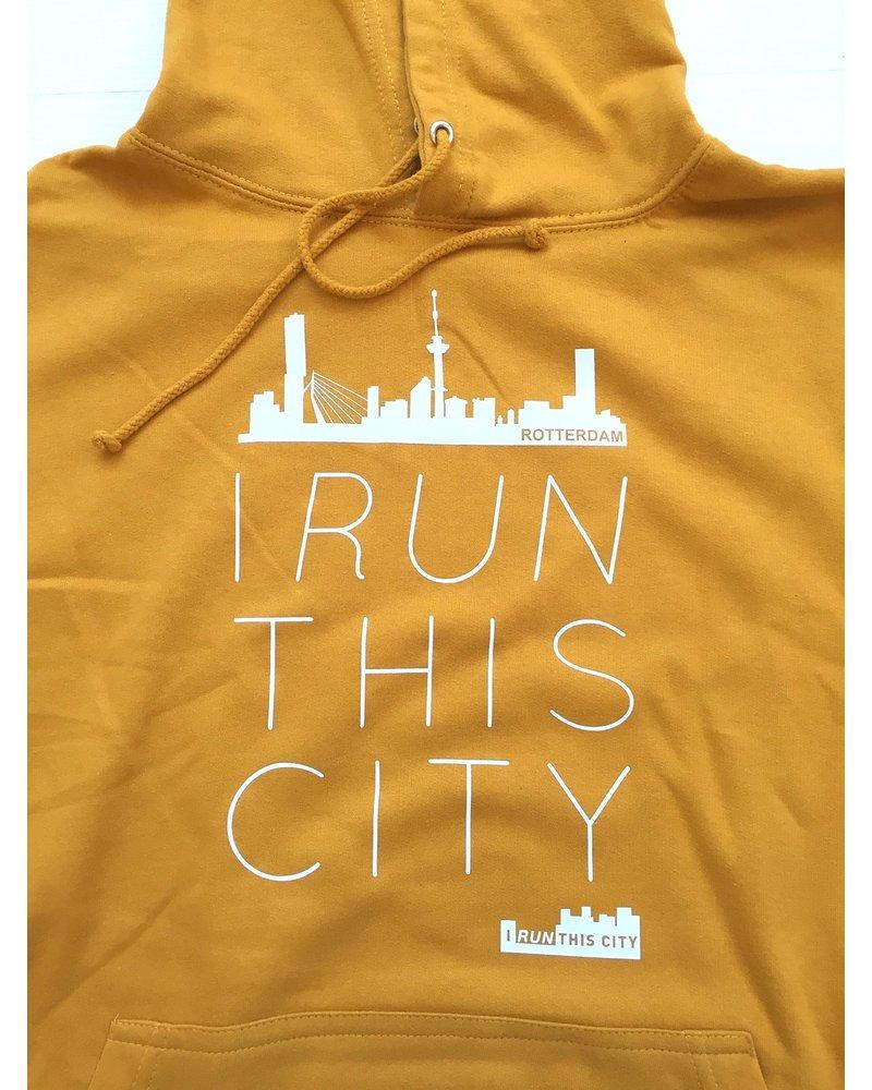 I RUN THIS CITY I Run This City Rotterdam hoodie mosterdgeel