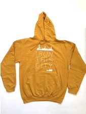 I RUN THIS CITY I Run This City Rotterdam hoodie mosterdgeel