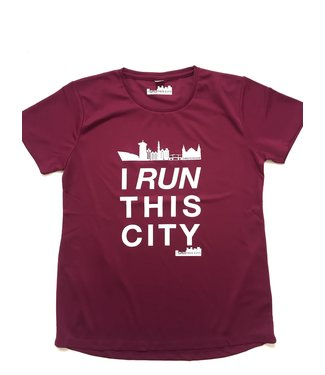 I RUN THIS CITY I Run This City Amsterdam hardloopshirt burgundy