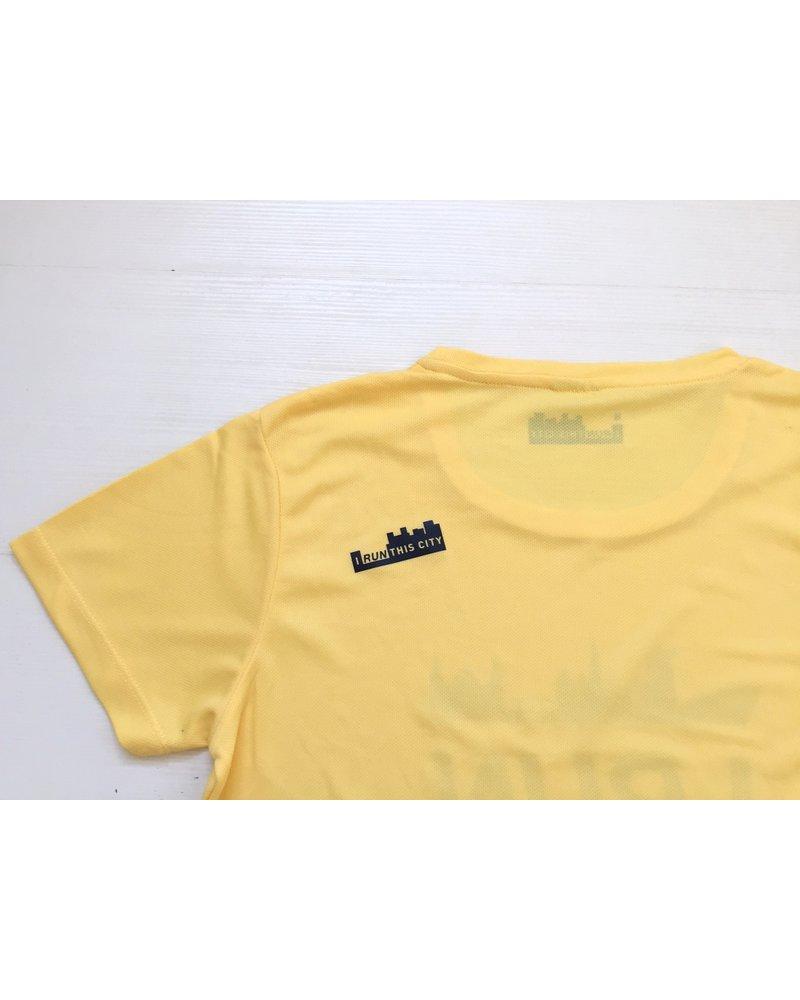 I RUN THIS CITY I Run This City Amsterdam hardloopshirt geel