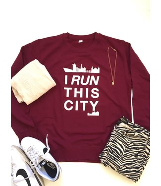 I RUN THIS CITY I Run This City Amsterdam sweater Wijn Rood