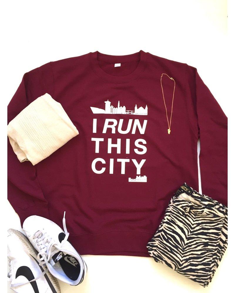 I RUN THIS CITY I Run This City Amsterdam sweater burgundy
