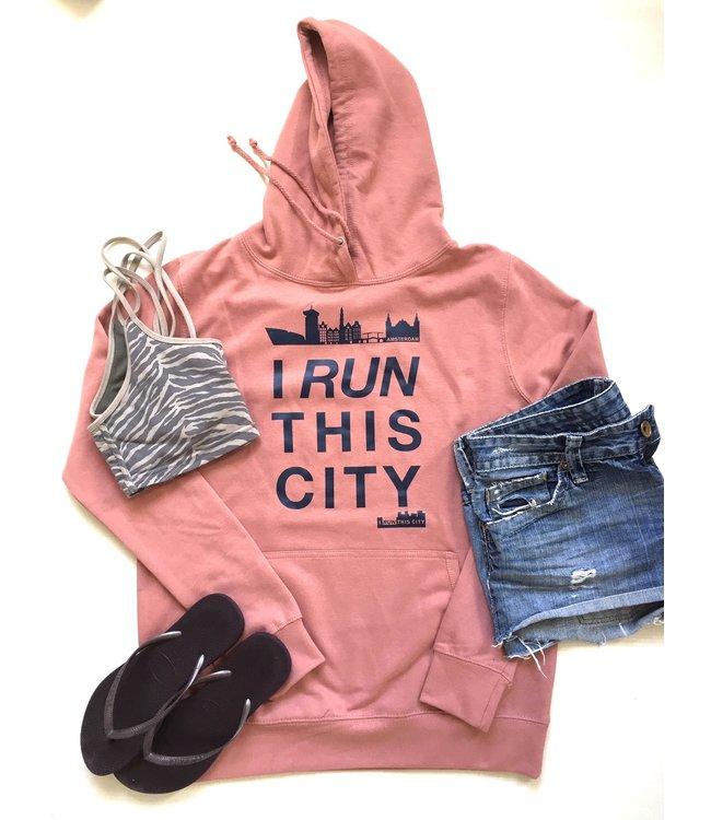 I RUN THIS CITY I Run This City Amsterdam hoodie lichtkoraal