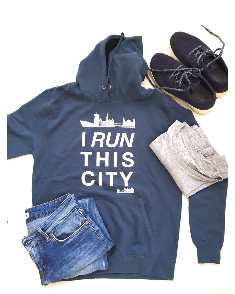 I RUN THIS CITY I Run This City Amsterdam hoodie blauw