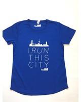 I RUN THIS CITY I Run This City Rotterdam hardloopshirt blauw