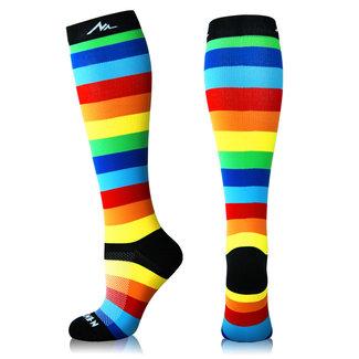 NEWZILL Compressiekousen VIBE Rainbow
