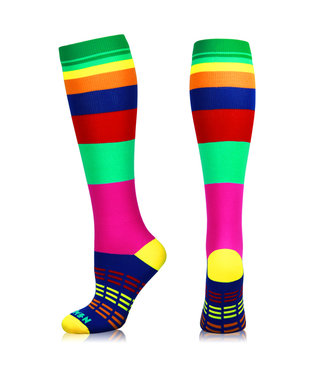 NEWZILL Newzill compressiekousen SWAG - Rainbow