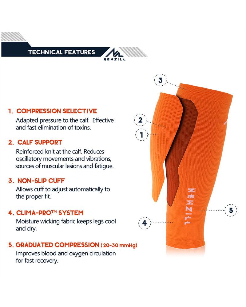NEWZILL Newzill compressie kuit sleeves Orange