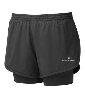 RON HILL Ron Hill short Stride Twin dames - zwart/ antraciet