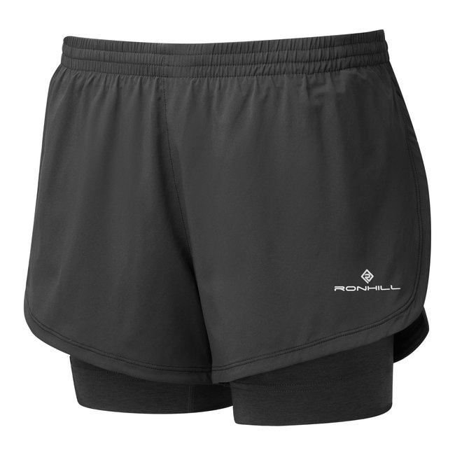 RON HILL Short Stride Twin dames zwart/ antraciet