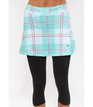 RUNNING SKIRTS Capri Skirt Carribean Plaid