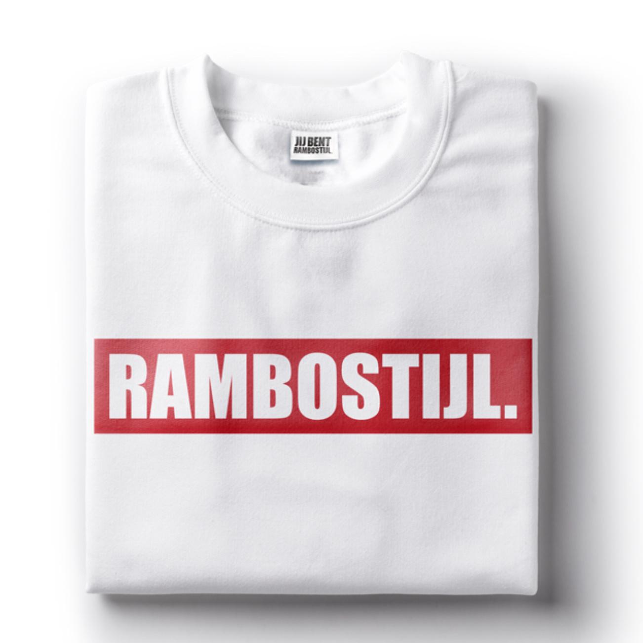 shirt Rambostijl in Wit