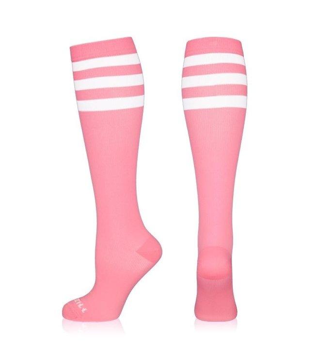 NEWZILL Compressiekousen 24/7 Pink and white