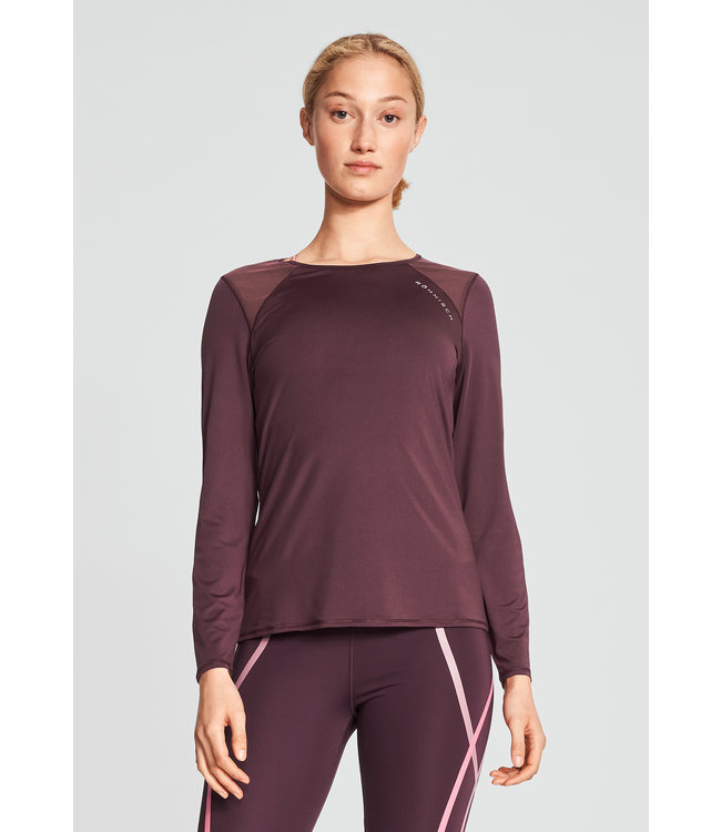 RÖHNISCH Asta Mesh Long Sleeve Dark Wine