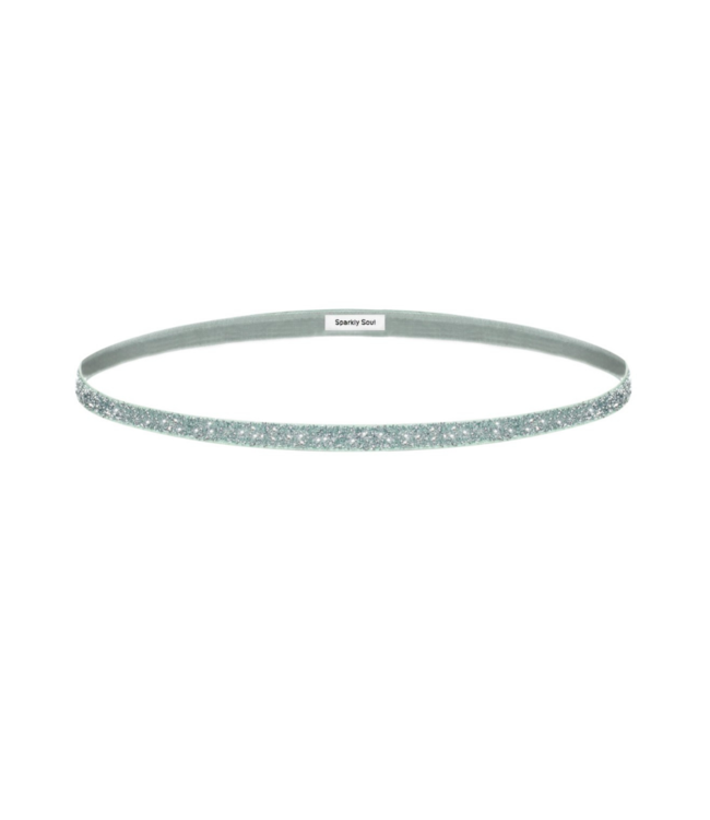 SPARKLY SOUL Haarband Silver extra smal