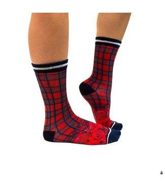 SOCK MY FEET Dames hardloop sokken Sock My Tartan