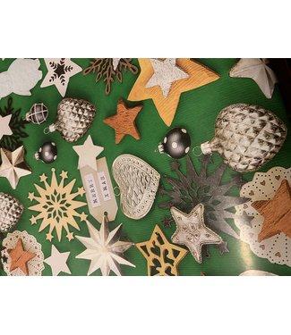 Inpakpapier Kerst Groen