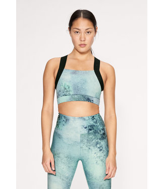 RÖHNISCH Kay Printed Sports Bra Green Space Dyed
