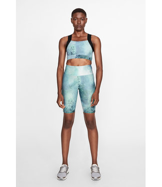 RÖHNISCH Kay dames hardloop Biker Tights Green Space Dyed