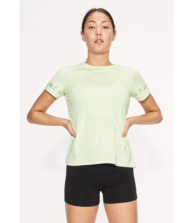 RÖHNISCH Heritage dames hardloopshirt Lime Cream