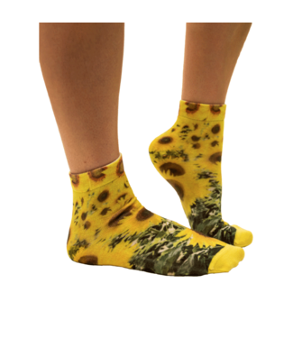 SOCK MY FEET Dames hardloop sokken Sock My Feet Sunflower