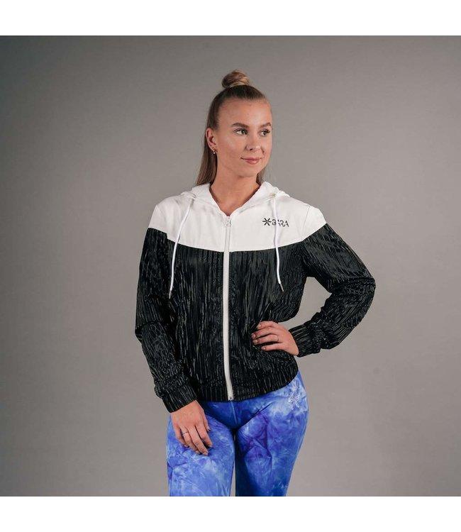 BARA Sportswear Dames hardloopjack Black White Windbreaker
