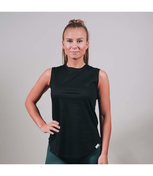 BARA Sportswear Dames hardloopshirt zonder mouw Black Eco Tank Top