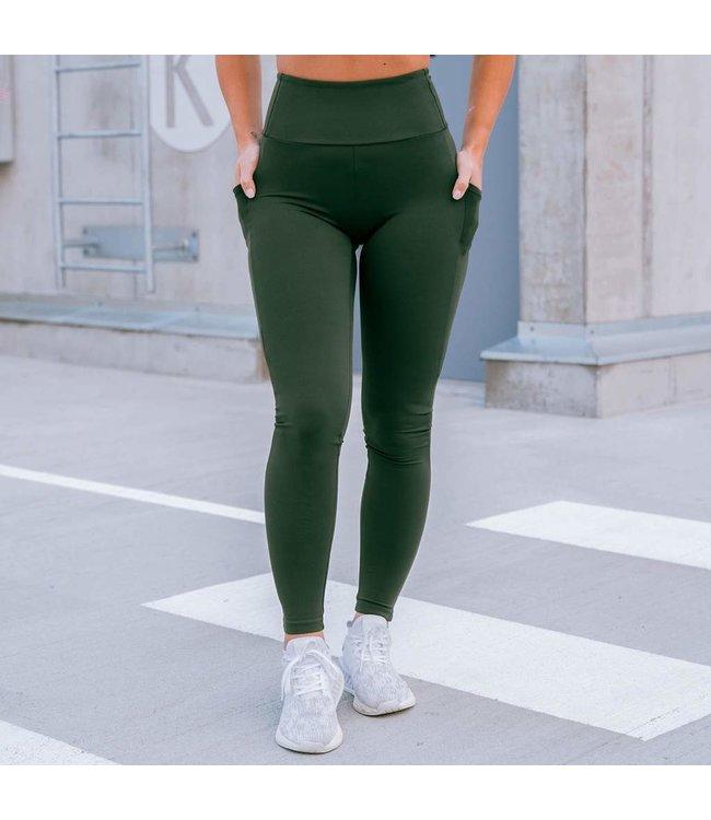 BARA Sportswear Dames hardloopbroek Pocket Khaki