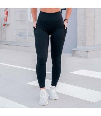 BARA Sportswear Dames hardloopbroek Pocket Zwart