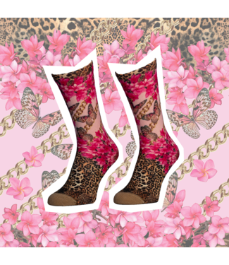 SOCK MY FEET Dames hardloop sokken Sock My Feet Plumeria