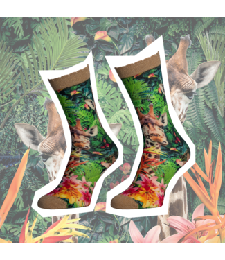 SOCK MY FEET Dames hardloop sokken Sock My Feet Jungle Giraf