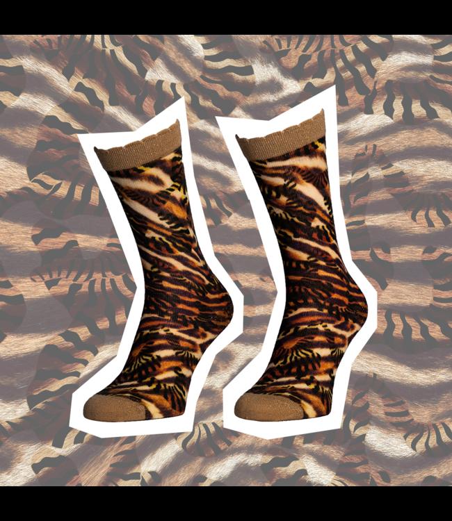 SOCK MY FEET Dames hardloop sokken Sock My Feet African Texture