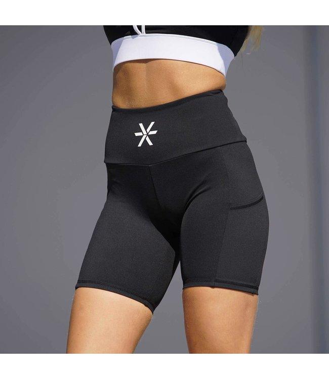 BARA Sportswear Dames hardloop short Black Pockets