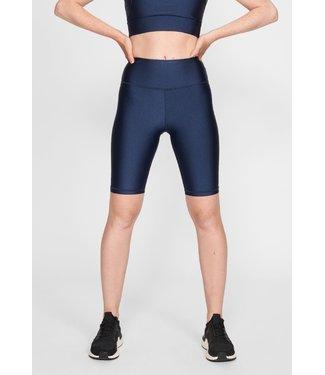 RÖHNISCH Dames hardloopbroek kort Shiny  Biker Tights Medival Blue
