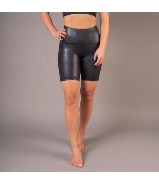 BARA Sportswear Dames hardloopbroek kort Black Shimmer