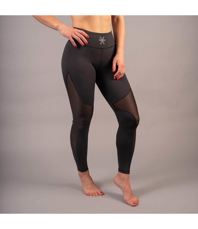 BARA Sportswear Dames hardloopbroek lang Black Mesh