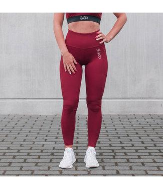 BARA Sportswear Dames hardloopbroek Wine Icon