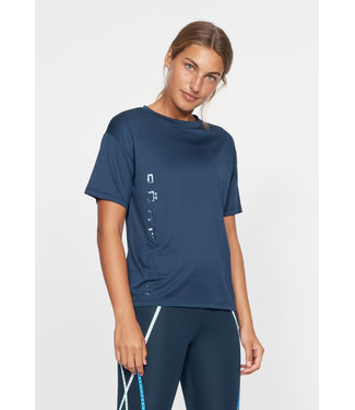 RÖHNISCH Dames hardloopshirt korte mouw Ivy Loose Dark Navy
