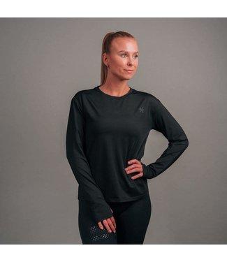 BARA Sportswear Dames hardloopshirt lange mouw Black Essential