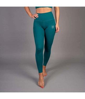 BARA Sportswear Dames hardloopbroek lang Teal Empower