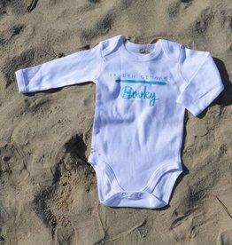 Baby romper Organic Cotton 'Ik ben gehaakt'