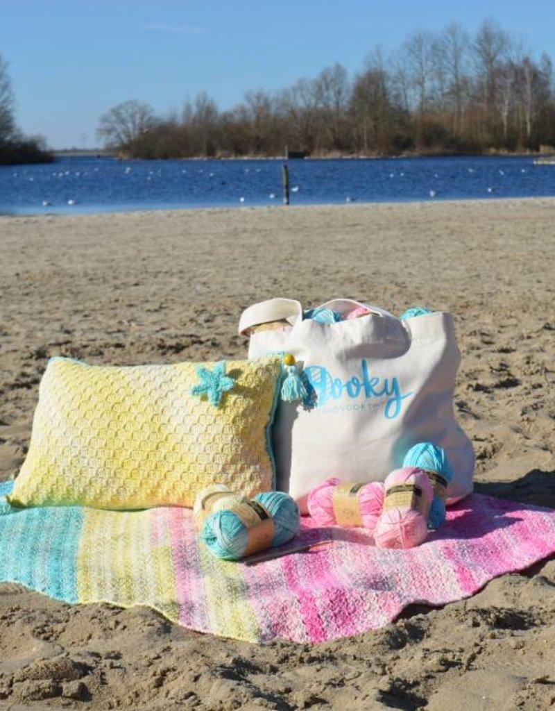 Crochet kit Sunset Sky Summer Pillow Cover