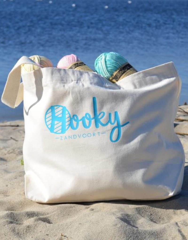 Strandtas Organic Cotton 'Crochet by the Ocean'