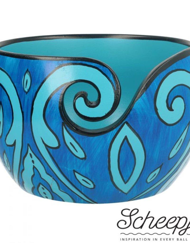 Scheepjes Scheepjes Yarn Bowl mango hout Blue Leaf